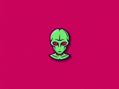 Hustlemoji Alien illustration sticker shot sports logo free throw emoji alien athletic app