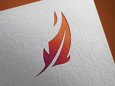 Fire Feather free throw shot phoenix logo flame fire feather branding blockchain bird