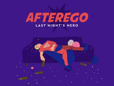 Afterego graphicdesign photoshop sketch superhero drawing illustration