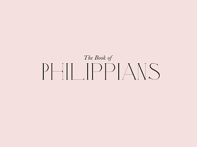 Philippians Logo Type pink branding typography design