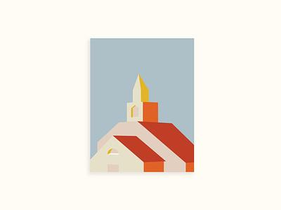 Church Illustration lines colors adobe illustrator vector illustration design