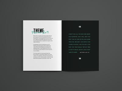 Conference Program magazine design indesign layout print
