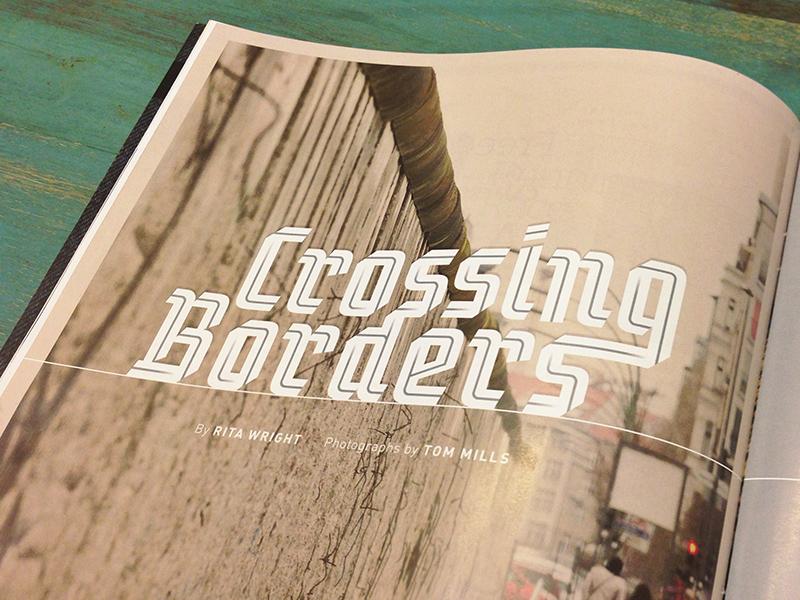 Crossing Borders type editorial