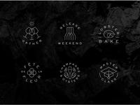 RdV Events vector iconography logo illustration