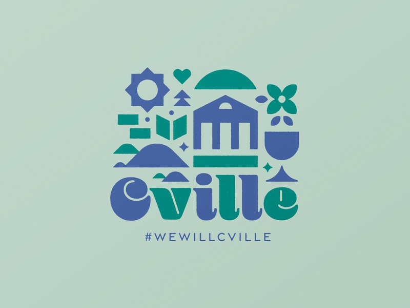 #wewillcville charity t-shirts coasters illustration