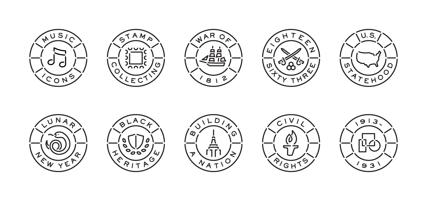 Stamp icons