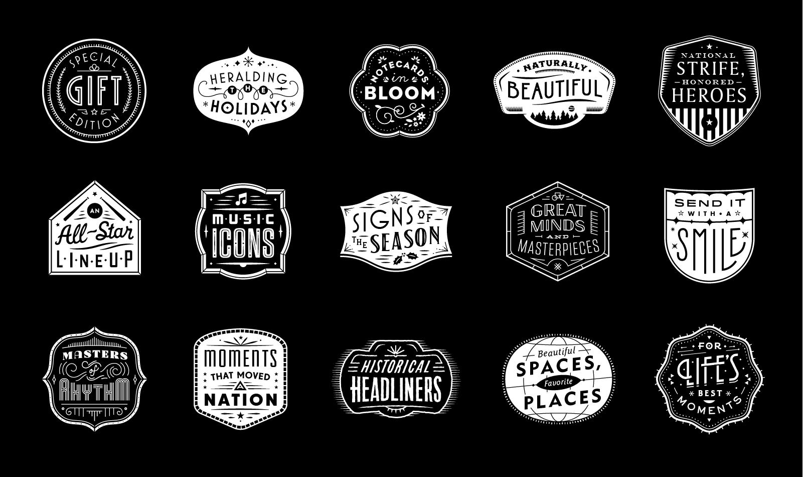 Usps holiday badges