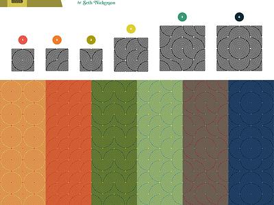 "Pattern Kit One: ""Ribbon Dancer"" pattern kit free vector"
