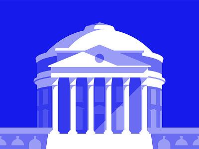 UVA Rotunda illustration jefferson architecture dome university columns