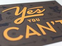 Yes You Can't: Printed