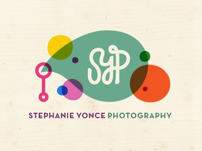 Photographer Logo Concept logo photographer photography color bubbles