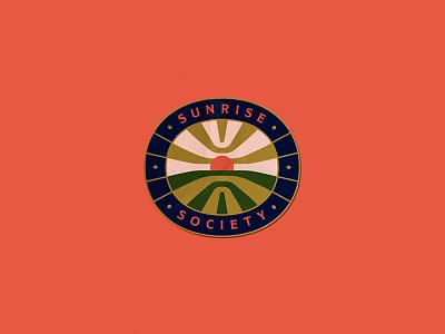 Sunrise Society logo mark sticker sunrise