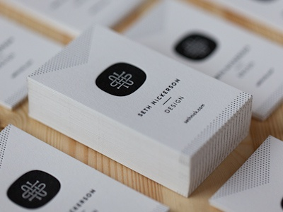 New Business Cards business time letterpress print cards
