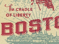 Boston boston flag liberty everywhere project luggage tag
