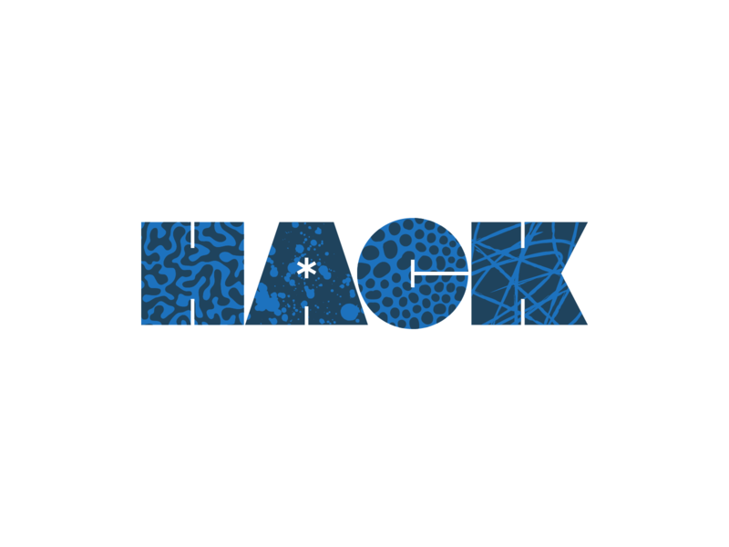HACK pattern logo lettering typography type
