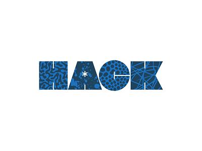 HACK pattern logo lettering typography type
