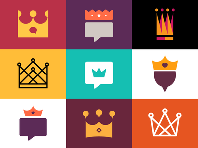 Crowns n' Stuff crown balloon illustration icon bubble speech king caption