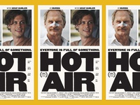 Hot Air Movie Poster print key art film woodtype typogaphy poster