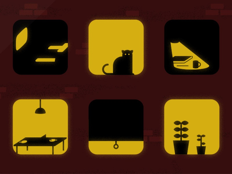 Through the Looking Glass illustration editorial icons windows