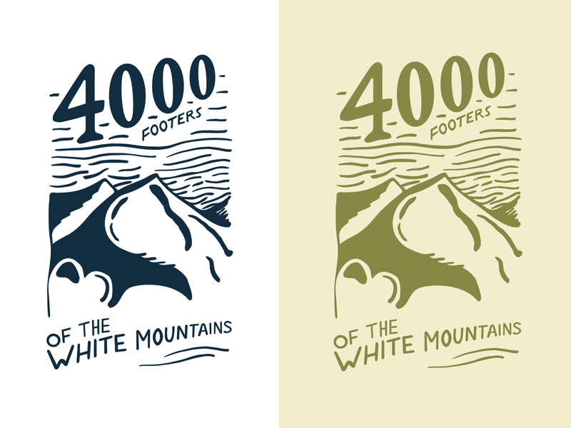 4000 Footers Illustration new hampshire vectorart art mountains vector illustration design illustrator
