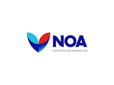 NOA Visual Identity logo vivid simplicity business branding identity design