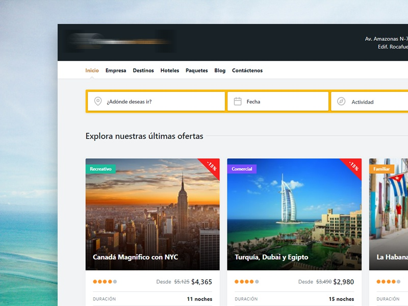Travel Agency Website >> Travel Agency Website By Pedro Enrique Palau Isaac On Dribbble