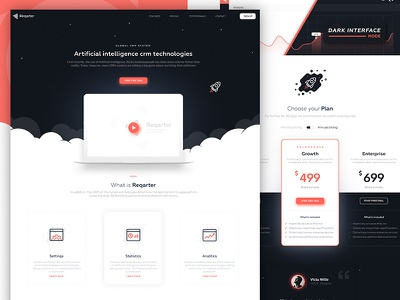 Reqarter app design ux design ui design web landing
