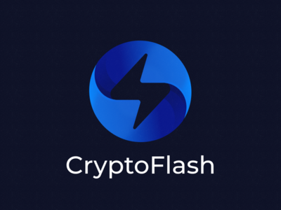 CryptoFlash Logo cryptocurrency logo design logo