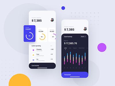 Financial App Concept interface app ux ui finance