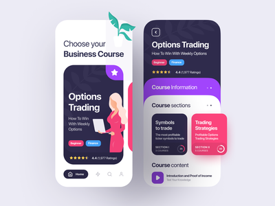Finance Course App finance inspiration course app design app ui