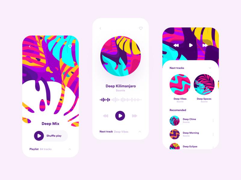 Music App Concept player music player music art music app music graphicdesign graphic art identity branding identity vector ios branding colors illustration design inspiration app app design ui