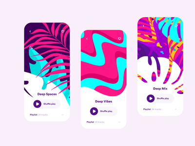 Music App Concept player music player music art music app music graphicdesign graphic art identity branding identity vector ios branding colors illustration design inspiration app app design ui