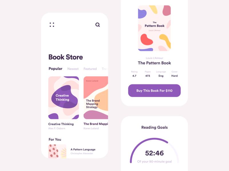 Book Store App Concept book cover art ios colors branding store book illustration design inspiration app ui app design