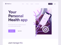Point Care Landing Page Design Concept