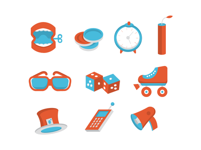 For fun illustration icons simple design