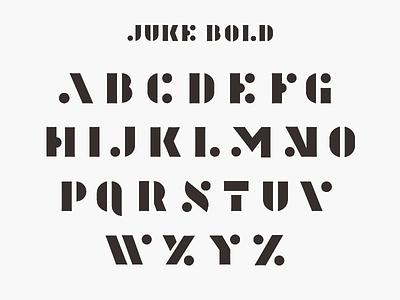 Juke Bold type typography design minneapolis