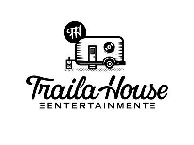 Traila House Ent. icon monogram lettering script logotype
