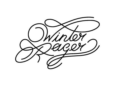 Winter Rager Black line monoline custom type type script