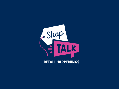 Shop Talk  promotional mark type iconic simple