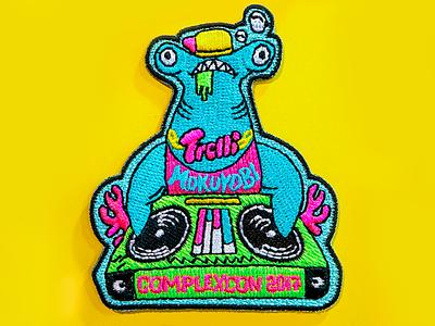 Mc Hammerhead A.K.A Jawsy Jeff hiphop dj cool shark design illustration patch