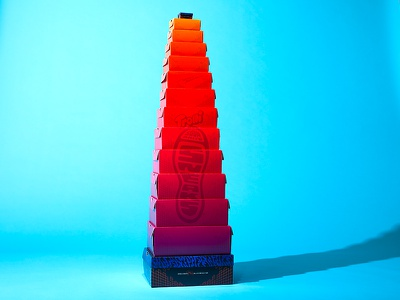 Tower Of boxes sneakers boxes design