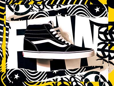 Vans shoes design collage art direction