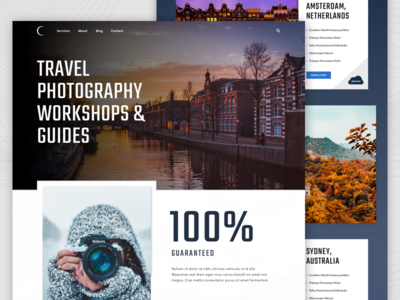 Travel Photography Workshops and Guides Concept