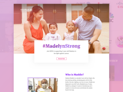 GiveBack DC Landing Page #MadelynStrong