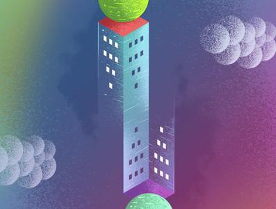 Tower Guinigi illusion illusion illustrator illustration