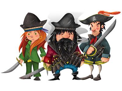 The Golden Age of Piracy - 1 calico jack anne bonny pirate photoshop illustration blackbeard
