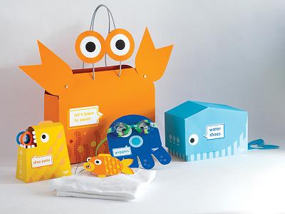 Speedo Kids Packaging system school project sports kids speedo packaging