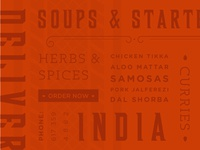 Typography for Curried Away