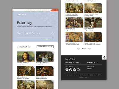 Louvre Redesign — Painting Page