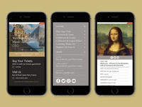 Louvre Redesign — Mobile Overview